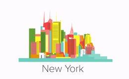 New york city vector illustration. usa manhattan skyline. modern city design. urban architecture . New York City Skyline Design Concept With City Silhouette stock illustration