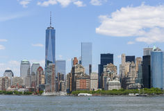 New York City Skyline. The skyline of Downtown Manhattan in New York City Royalty Free Stock Photos