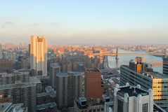 New York City Skyline. Of downtown Manhattan in the Financial District Royalty Free Stock Images