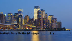 New York City Skyline at Dusk Stock Images