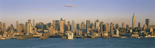 New York City skyline and East River Stock Image