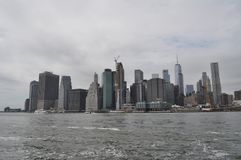 New York City Skyline from the East River Royalty Free Stock Photography