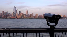 New York city skyline in the evening. View from Jersey city