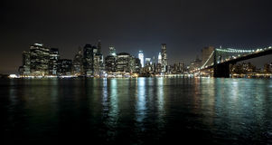 The New York City skyline and Freedom tower Royalty Free Stock Image