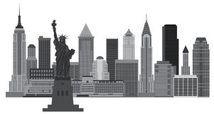 New York City Skyline Illustration Royalty Free Stock Photo