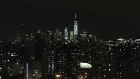 New York City skyline 4K stock video footage