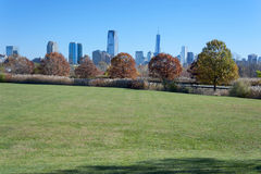 New York City skyline from the Liberty State Park Royalty Free Stock Photo