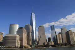 New York City skyline. Skyline of New York City lower Manhattan royalty free stock images