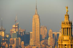New York City Skyline. Of midtown Manhattan from the Financial District Stock Image