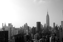 New York City skyline. Morning view from the skyscraper at the east river royalty free stock image