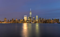 New York City Skyline from New Jersey Royalty Free Stock Images