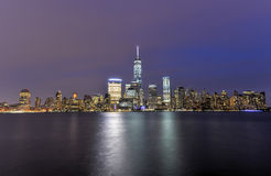 New York City Skyline from New Jersey Stock Photo