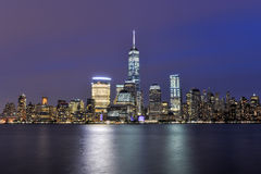 New York City Skyline from New Jersey Stock Photography