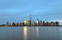 New York City Skyline from New Jersey Royalty Free Stock Photography