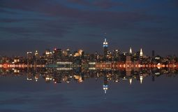 New York city skyline at night Royalty Free Stock Image
