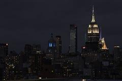 New York City Skyline at night Royalty Free Stock Photo