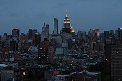 New York City Skyline at night Royalty Free Stock Photos