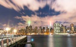 New York City - Skyline by night Stock Photos