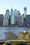 New York City skyline. The New York City skyline with the old harbour Stock Image