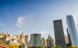 New York City skyline, old and modern buildings Royalty Free Stock Image