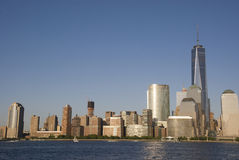 New York City Skyline with One World Trade Center Royalty Free Stock Image