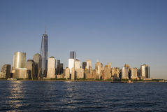 New York City Skyline with One World Trade Center Stock Images