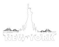 New York City skyline outline vector Stock Photography
