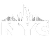 New York City skyline outline vector Royalty Free Stock Images