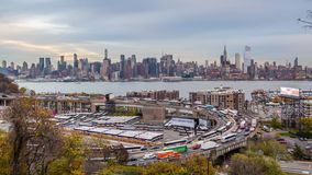 New York City and Highway Loop stock video
