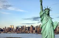 New york city skyline over the hudson river Stock Photo