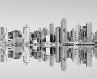 New york city skyline over the hudson river Royalty Free Stock Images