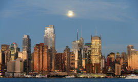 New york city skyline over hudson river Royalty Free Stock Photo