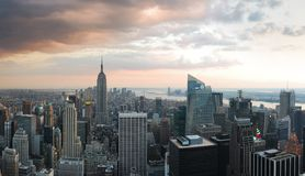 New York City Skyline Panorama Royalty Free Stock Photography