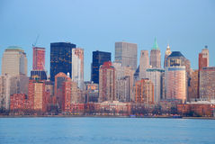 New York City Skyline Panorama Stock Photo