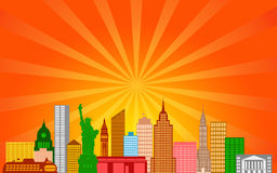 New York City Skyline Panorama Royalty Free Stock Photography