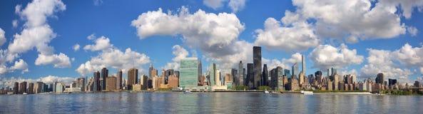 New York City skyline panorama. New York City Manhattan Midtown skyline panorama Stock Images