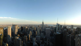 New York Skyline Panorama Royalty Free Stock Photos