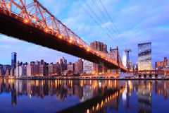 New york city skyline at Queen Stock Photo