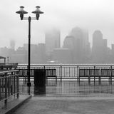 New York City skyline on a rainy day Stock Image
