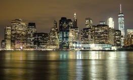 New York City skyline reflection Stock Images