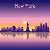 New York city skyline silhouette background Royalty Free Stock Photography