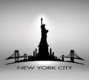 New York City skyline Statue of Liberty  Royalty Free Stock Photos