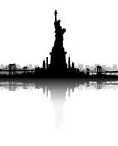 New York City skyline Statue of Liberty vector Royalty Free Stock Image