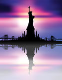 New York City skyline Statue of liberty Vector Stock Photography