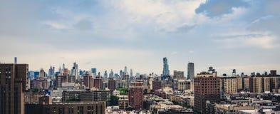 New York City Skyline on a sunny day. Buildings in New York City on a sunny day in June Royalty Free Stock Photography