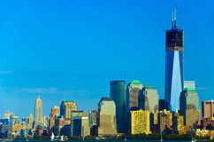 New York City skyline. On sunny day, USA Stock Photos