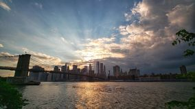 New York City skyline at sunset. Stock Photography