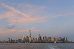 New York City skyline during sunset Royalty Free Stock Images