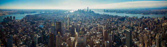 New York City Skyline. Taken from the Empite state Building royalty free stock photo