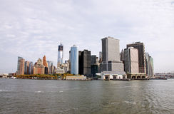 New York City. The New York City skyline from upper Manhattan Stock Images